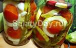 Кабачки с помидорами на зиму вкусные рецепты