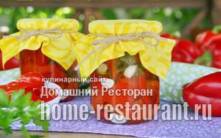 Красный болгарский перец на зиму по армянски
