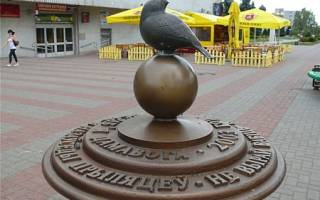 Памятник воробью в бостоне