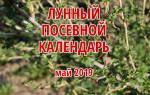 Посадочный календарь на май